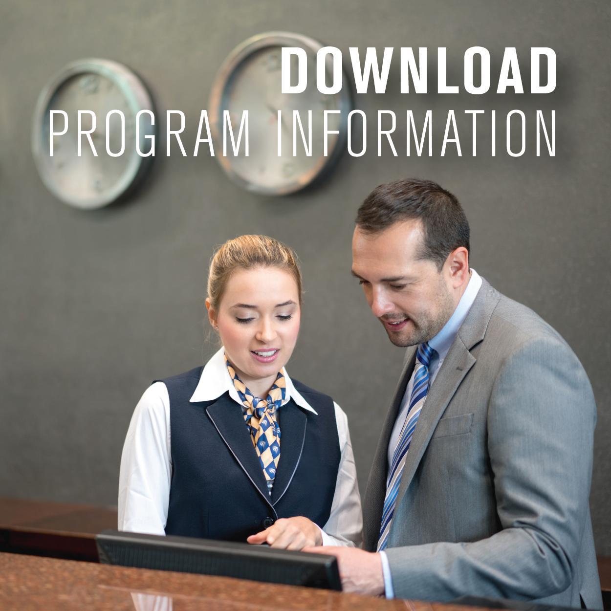 Online MS in Hospitality Management program handout (PDF)